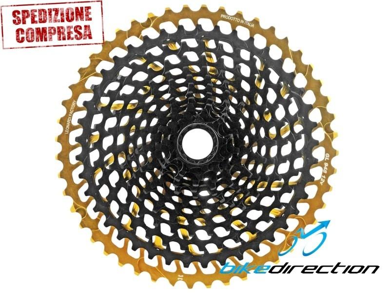 948-NPU-LEONARDI-cassetta-gold-oro-12V-SRAM-mtb-shimano-xtr-Bike-Direction
