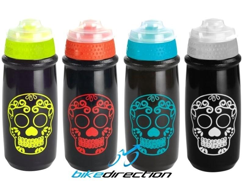 borraccia-colorata-nera-rossa-giallo-azzurro-Skull-Gist-teschio-Bike-Direction