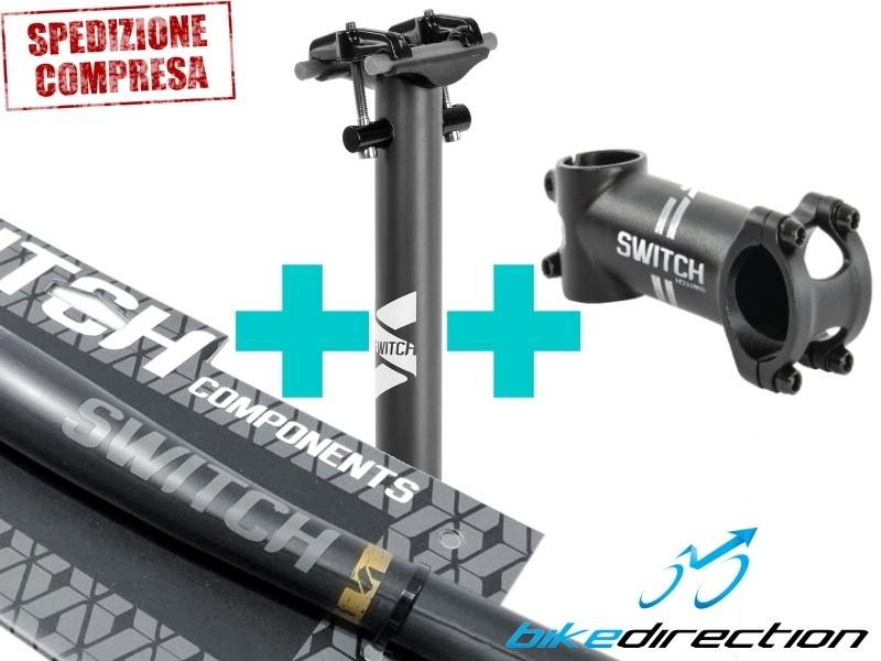 carbonio-reggisella-manubrio-attacco-Switch-superlight-kit-trittico-Bike-Direction