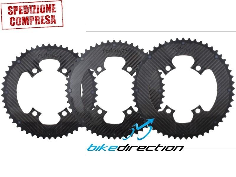 CARBORING-CARBON-TI-corone-Corsa- 4-bracci-bcd110-50-52-53-Bike-Direction