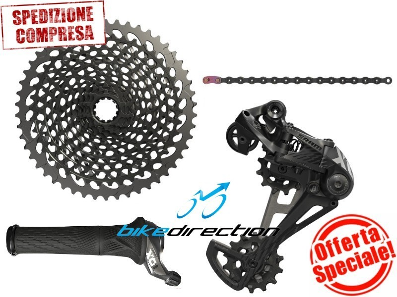 gruppo-SRAM-EAGLE-X01-nero-black-12-speed-mtb-10-50-OFFERTA-Rotante-Bike-Direction
