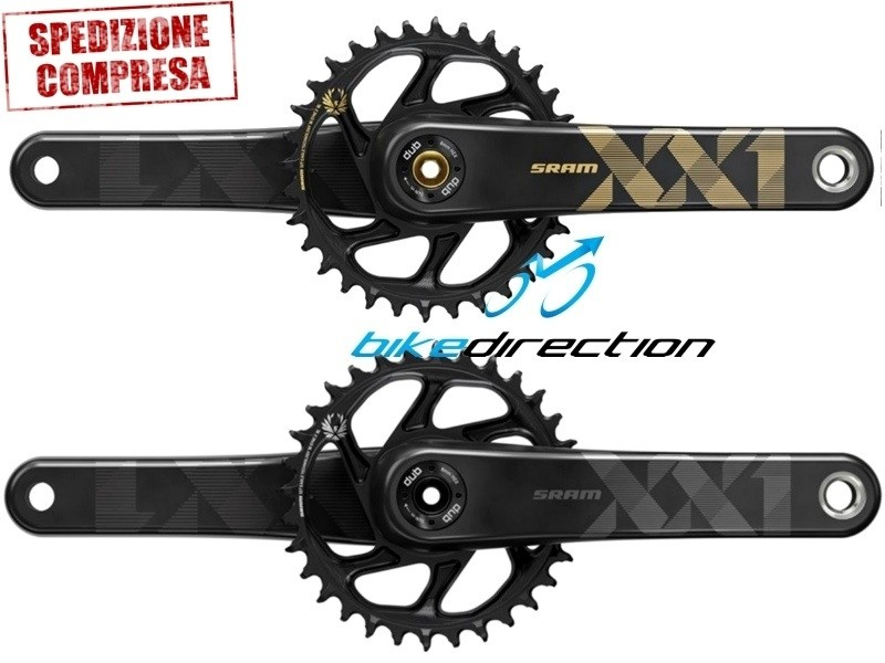 Guarnitura-SRAM-eagle-XX1-DUB-nero-GOLD-mtb-Bike-Direction