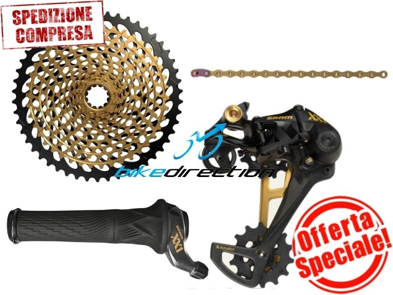 upgrade-kit-GOLD-XX1-sram-EAGLE-Grip-shift-rotante-trigger-oro-offerta-Bike-Direction