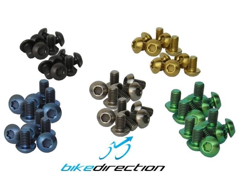 viti-titanio-kit-12-pz.-gold-nere-blu-verde-acido-colorate-fissaggio disco-Bike-Direction