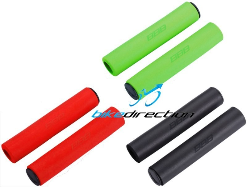 manopole-silicone-MTB-BBB-Sticky-nere-rosse-vere-acido-130-mm-Bike-Direction