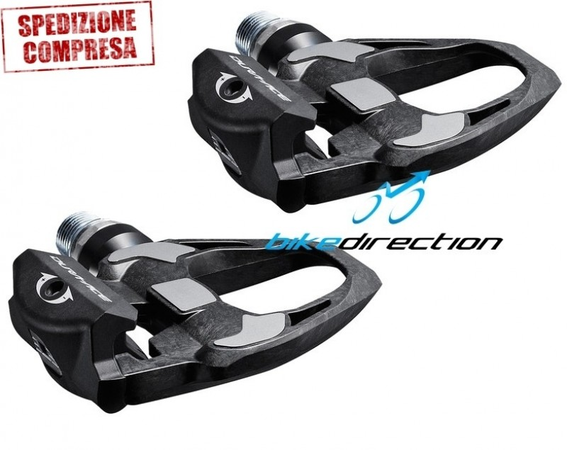 Shimano-PD-R9100-Dura-Ace-Carbon-SL-Road-Pedals-PEDALI-corsa-Bike-Direction