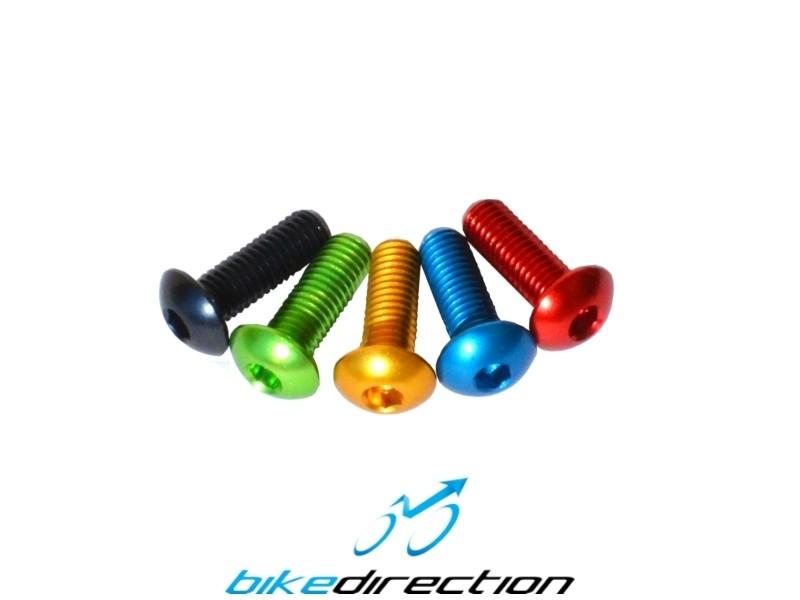 Kirmax 1 Paio di Bulloni per Portaborraccia per Bici B5 in Lega di Alluminio Viti Autofilettanti A Testa Esagonale Verde