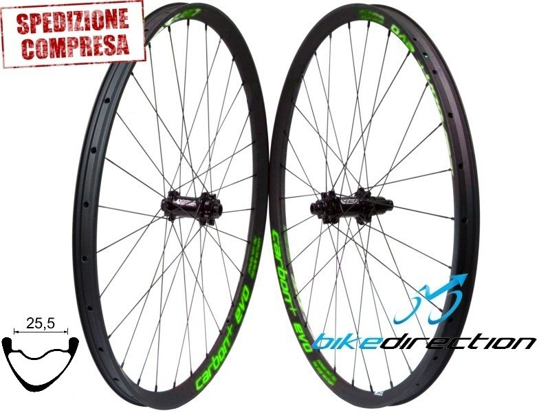 Ruote In Carbonio Mtb 29er Hookless Carbon Evo L335 255 Carbon Ti Sp Ud 3k 12k 1210 Grammi