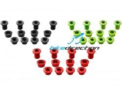 bussole-X-Fix-Xs-Carbon-ti-doppia-corone-nere-rosse-verde-acido-Bike-Direction