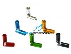 Capoguaina sigillati per cambio e deragliatore 4 mm ergal neri, blu, rossi, verdi, silver, gold coppia