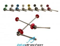 Sganci rapidi Carbon-ti X-Lock Special ROAD Ti colorati 39 grammi coppia!