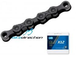 Catena KMC X12 Nero BlackTech 12V 126 maglie