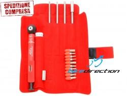 Chiave dinamometrica Effetto Mariposa Giustaforza II 2-16 Pro Deluxe testa cricchetto con inserti