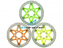 dischi-CORSA-ESTREMA-verde-giallo-arancione-FLUO-rotors-180-Shimano-Formula-Bike-Direction