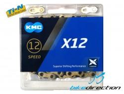 Catena KMC X12 Ti-N Gold-Black 12V 126 maglie