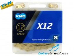 Catena KMC X12 Ti-N Gold 12V 126 maglie