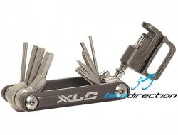 Multiattrezzo bici portatile XLC tascabile 15 funzioni con smagliacatena