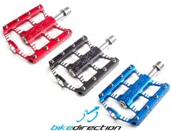 Pedali Flat Sapience Free Ride - BMX - Enduro rossi, neri, blu 280 gr.