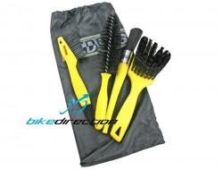 Set spazzole pulizia bici Pedros Pro Brush Kit