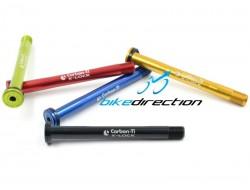 Perno superleggero Carbon-ti X-Lock QR15 compatibile forcella FOX nero, rosso, blu, gold, verde acido