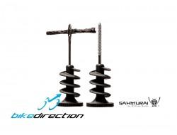 Kit Sahmurai Sword 2.0 riparazione forature copertoni tubeless e tubeless ready integrato manubrio