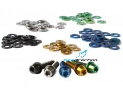Rondelle distanziali in titanio colorate per viti M5