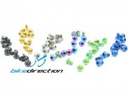 Viti in titanio colorate per fissaggio dischi freno MTB M5x8 Kit. 12 pz.