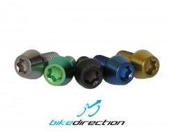 Viti-titanio-colorate-M5x10-t25-nere-verdi-oro-blu-MTB-Corsa-Bike-Direction