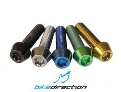 Viti-titanio-colorate-M6x20-t25-nere-verdi-gold-blu-MTB-Corsa-Bike-Direction
