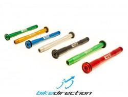Perno superleggero Carbon-ti X-Lock QR15 compatibile forcella Rock Shox nero, rosso, blu, gold, verde acido