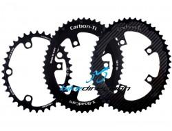 X-ROADCAM-CARBON-TI-CORSA-corone-carbonio-50-36-denti-doppie-camme-OSYMETRIC-Bike-Direction