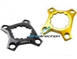 X-Spider Carbon-Ti AL7075 BCD 76 per Race Face, THM, Sram Truvativ, Hollowgram e Rotor