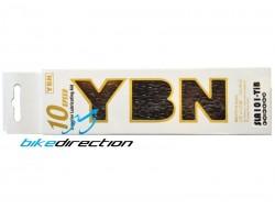 Catena superleggera YABAN SLA101-TiB 10V autolubrificante nera
