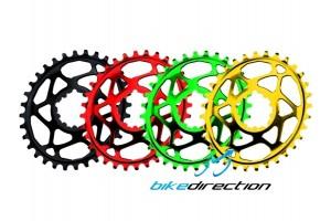 ABSOLUTEBLACK-corona-OVALE-integrata-Truvativ-gxp-30-32-34-denti-spiderless-Bike-Direction