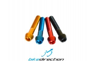 KCNC-CARBON-TI-ergal-screws-coloured-M6x30-black-red-blue-gold-Bike-Direction