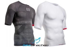 compressport-ON-OFF-LS-SS-grigia-bianca-S-M-L-maglietta-traspirante-Bike-Direction