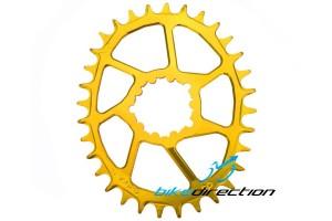 corona-ovale-gold-dorata-doppie-camme-Cruel-Components-sram-Bike-Direction
