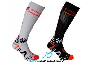 Full-socks-v2-bike-Compressport-black-white-calzini-alti-X-Bionic-Bike-Direction