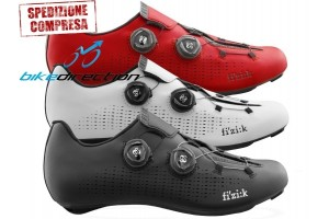 INFINITO-FIZIK-R1-ROAD-shoes-red-black-white-CORSA-Scarpe-Bike-Direction