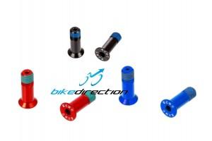kcnc-carbon-ti-ctk-viti-rosse-nere-blu-oro-pulegge-cambio-fissaggio-jockey-Bike-Direction