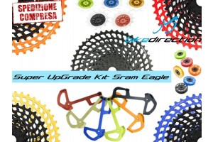 KIT-upgrade-SRAM-EAGLE-LEONARDI-FACTORY-colorato-cassetta-gabbia-pulegge-Bike-Direction