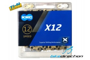 KMC-X12-nera-oro-gold-black-sram-catena-12V-Bike-Direction