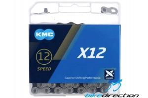 KMC-X12-silver-black-chain-catena-12-velocità-sram-grigia-nera-Bike-Direction