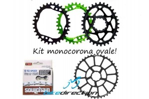 monocorona-ovale-xx1-32-denti-rotor-Garbaruk-absoluteblack-sapience-pignone-42-sram-Bike-Direction