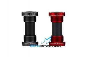 movimento-GXP-centrale-calotte-filettate-cuscinetti-SRAM-nero-rosso-mtb-Aerozine-Bike-Direction