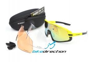 occhiali-giallo-gluo-mtb-corsa-Gist-next-lenti-intercambiabili-Bike-Direction