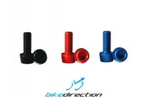 Vite-ergal-corsa-estrema-M5x12-fissaggio-cmponenti-bici-portaborraccia-rossa-nera-blu-Bike-Direction