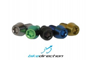 Viti-titanio-colorate-nero-verde-oro-gold-M6x10-t25-componenti-bici-MTB-Corsa-Bike-Direction